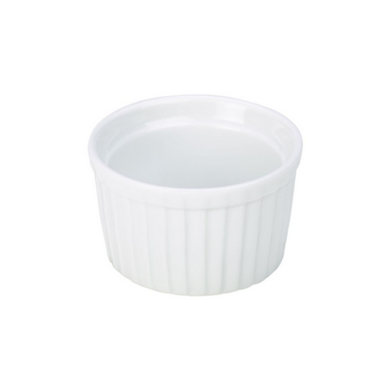 Fluted White Stacking Ramekin 13.6cl (4.6oz)