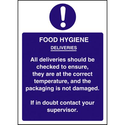 Food Hygiene Deliveries Sign