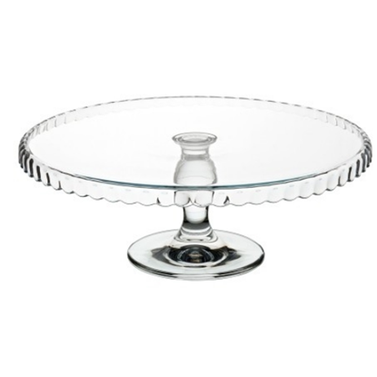 """Footed Glass Cake Stand 12.6"""" (32cm)"""