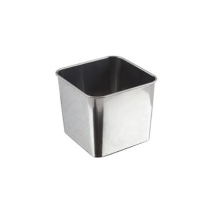 "Galvanised Steel Square Serving Tub 3.1x3.1x2.4"" (8x8x6cm)"