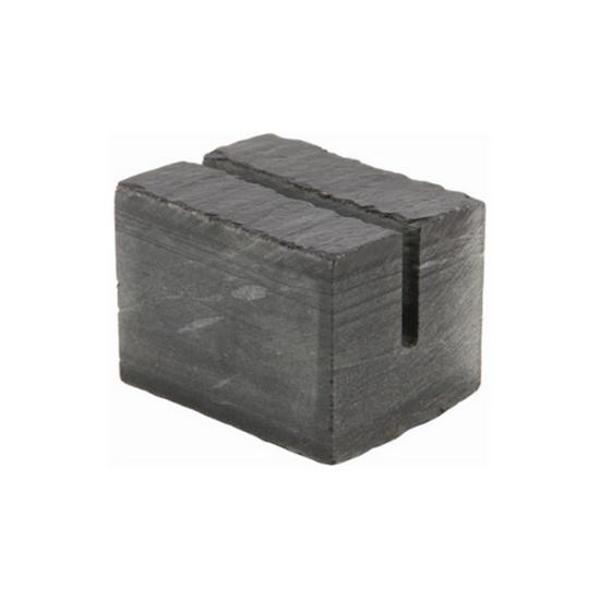 "Genware Slate Cube Mini Sign Holder 1.2x1"" (3x2.5cm)"
