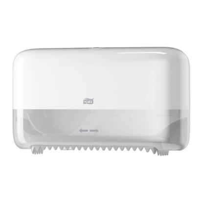 Tork Coreless White Mid-Size Toilet Roll Dispenser