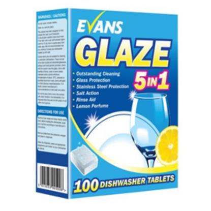 Evans Glaze 5 In 1 Dishwasher Tablets