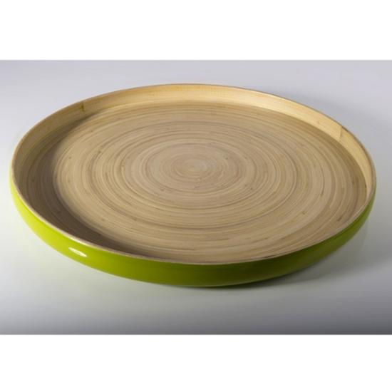 "Green Bamboo Tray 13.8x1.2"" (35x3cm)"