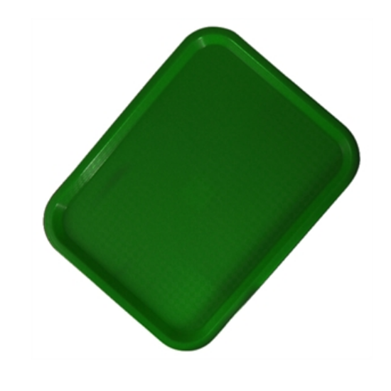 "Green Fast Food Tray 17.9x14"" (45.5x35.5cm)"