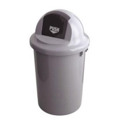 Grey Push Bin 60L