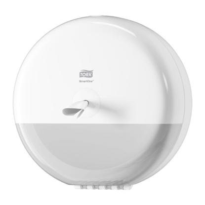"""Tork White Plastic Smartone Dispenser 10.6x10.6x6.7"""" (27x27x17cm)"""