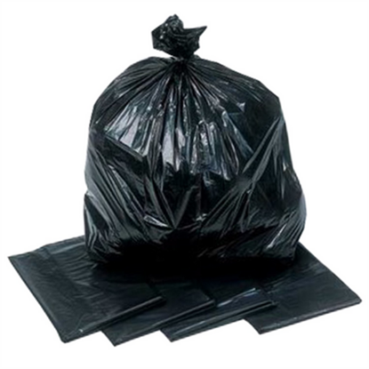 "Heavy Duty Black Refuse Sack 26x44"" (66x111.8cm)"