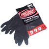 Large Size 9 Heavy Duty Black Rubber Gloves