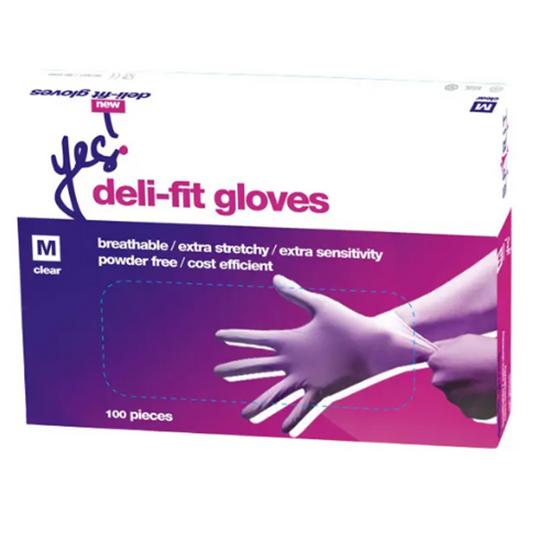 Deli Fit Clear Gloves Medium