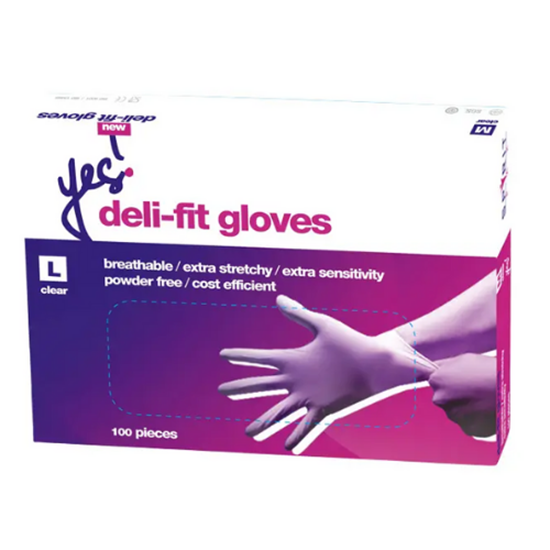 Deli Fit Clear Gloves Large