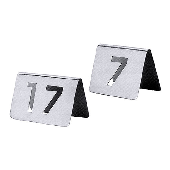 Stainless Steel Cut-Out Table Numbers