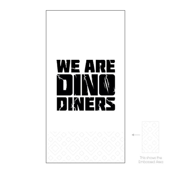 Dinos Diners 2ply 8 Fold Napkins
