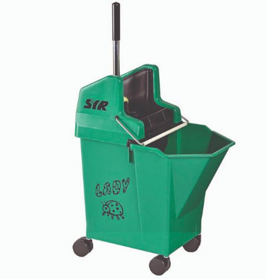 SYR Green Mobile Mop Bucket & Wringer