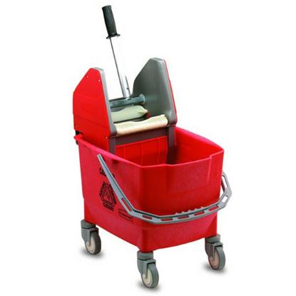 Rubbermaid Red Bravo Mop Bucket & Wringer 25L