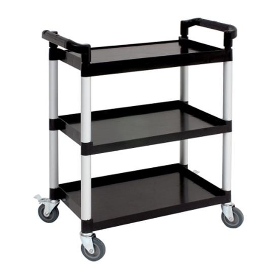 "Small Black Utility Cart 33.9x16.5x35.8"" (86x42x91cm)"