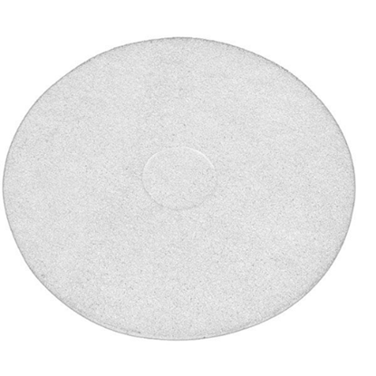 """White Floor Cleaning Pads 17"""" (43cm)"""