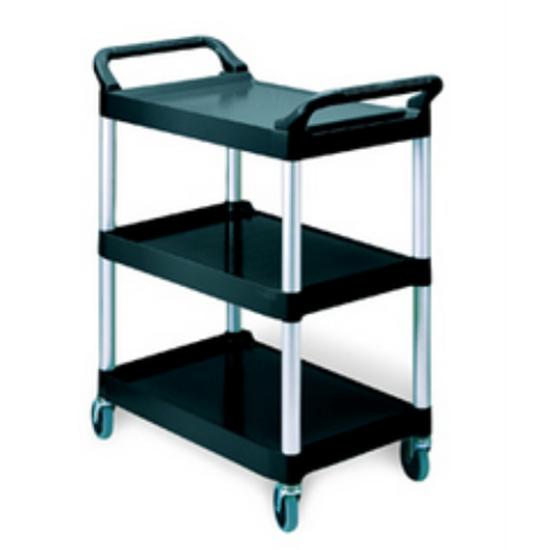 "Rubbermaid 3-Tier Utility Cart 33.6x18.6x37.8"" (85.4x47.3x96cm)"