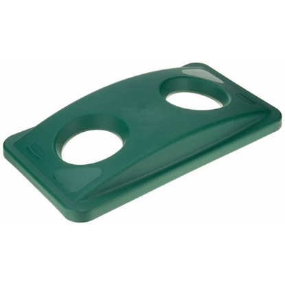 Rubbermaid Green Bottle Recycling Lid For Slim Jim Cont.