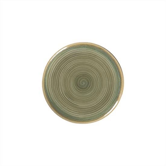 "Rakstone Spot Emerald Coupe Plate 10.6"" (27cm)"