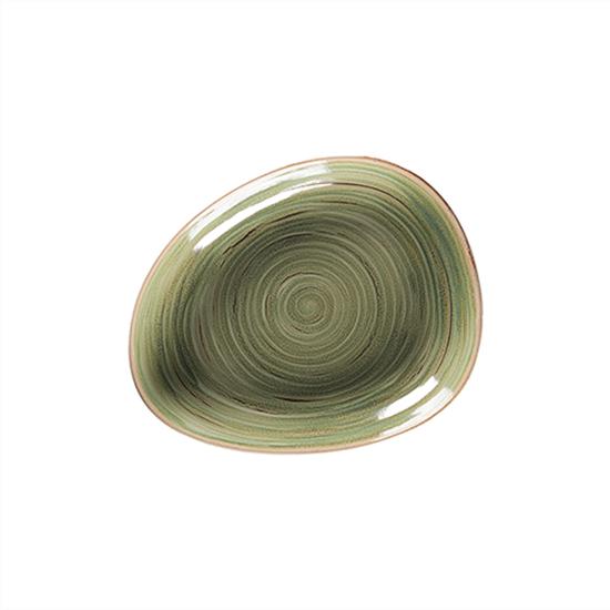 "Rakstone Spot Emerald Organic Deep Plate 11"" (28cm)"