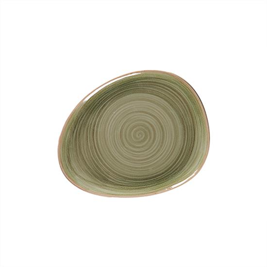 "Rakstone Spot Emerald Organic Plate 11"" (28cm)"