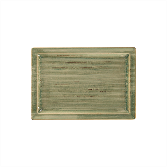 "Rakstone Spot Emerald Rectangle Plate 13x9"" (33x23cm)"