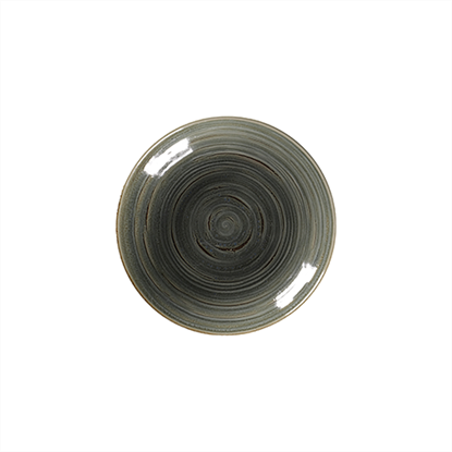 "Rakstone Spot Peridot Deep Coupe Plate 10.2"" (26cm)"