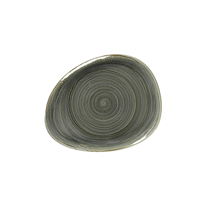 "Rakstone Spot Peridot Organic Plate 11"" (28cm)"