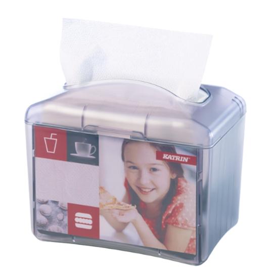 "Katrin Table Top Napkin Dispenser 7.6x6.6x4.7"" (19.3x16.8x12cm)"