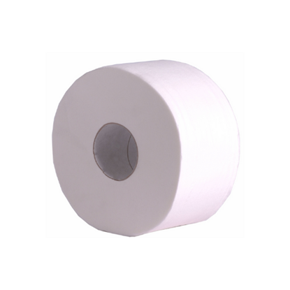 Mini Jumbo White Toilet Tissue 2 Ply 200m/60mm