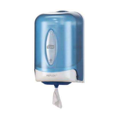 """Tork Reflex Blue Mini Reflex Dispenser 8.3x7.1x11.8"""" (21x18x30cm)"""
