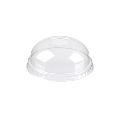 Domed Lid With Straw Hole For 95mm Smoothie Cups
