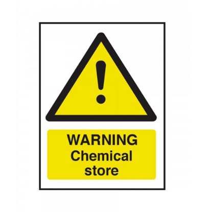 """Warning Chemical Store Safety Sign 7.9x5.9"""" (20x15cm)"""