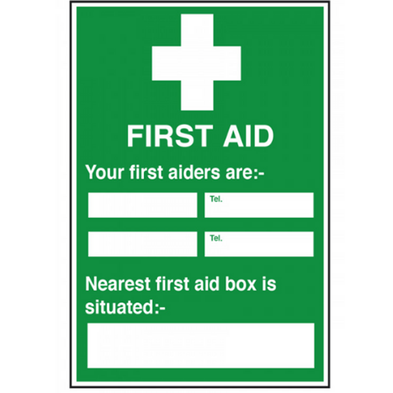 """First Aiders Sign 11.8x7.9"""" (30x20cm)"""