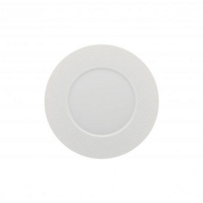 Collection L Round Dessert Plate Wide Rim 24cm