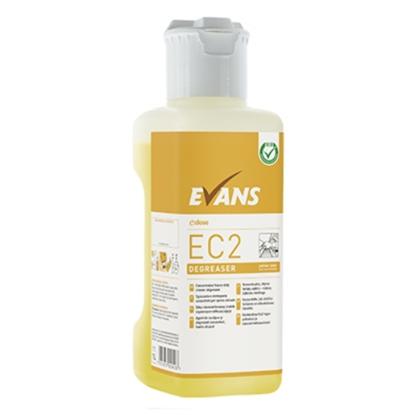 Evans Ec2 Degreaser Unperfumed Heavy Duty Cleaner Degreaser C/W Dosing Cap 1L