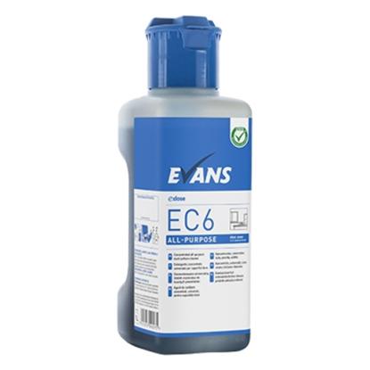 Evans Ec6 All Purpose Unperfumed Heavy Duty Cleaner Degreaser C/W Dosing Cap 1L