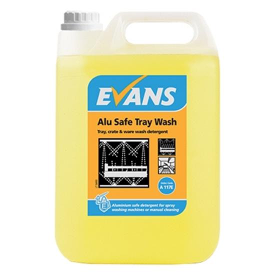 Evans Alu-Safe –Tray, Crate & Ware Wash Detergent 5L