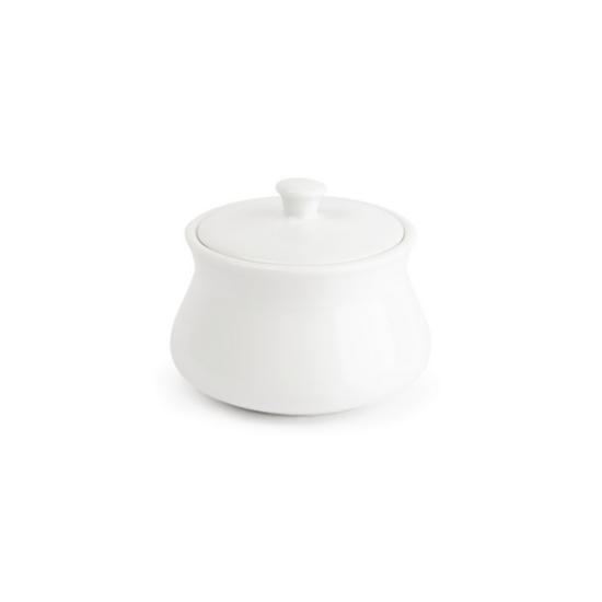 Royal Porcelain Aurora White Sugar Bowl/Lid
