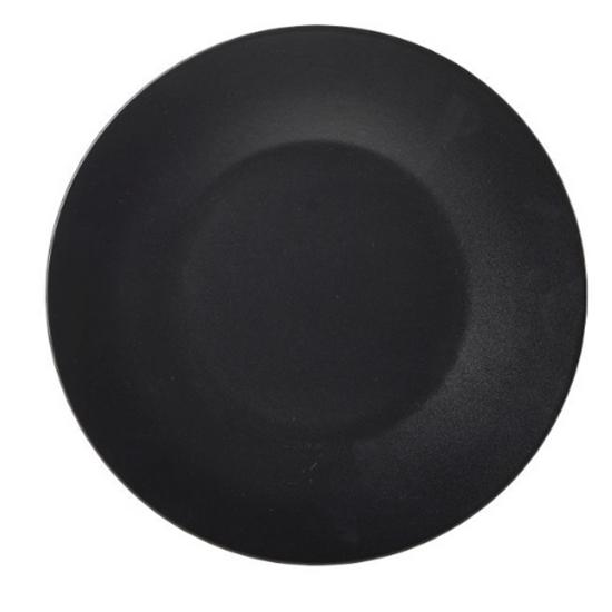"Luna Stoneware Black Wide Rim Plate 8.25"" (21cm)"