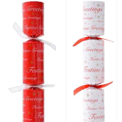 "Festive Greeting Christmas Cracker Mixed Box 10"""