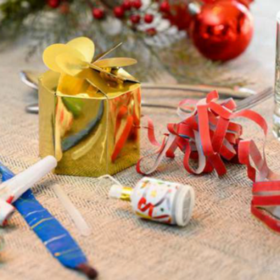 Gold Foil Gift Party Box