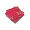 33x33cm Red Snowflake Star Napkin 2Ply