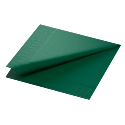 Duni Dark Green Napkins 2ply 40x40cm